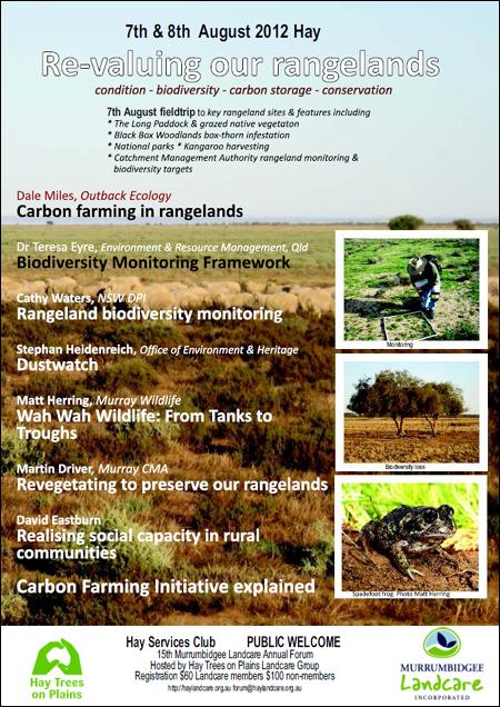 2012 Murrumbidgee Landcare Annual Forum