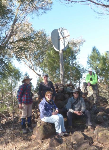 Group on top of Mt Caley